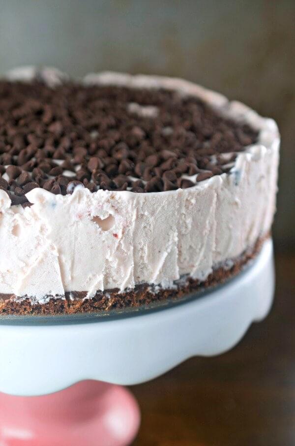 Chocolate Covered Strawberry Ice Cream Cake Oh Sweet Basil