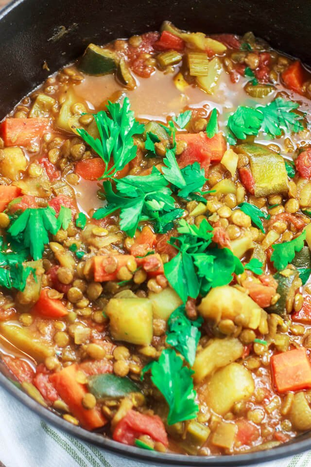 one pot recipes one pot vegetables and lentil recipe oh sweet basil 30664