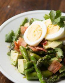 Asparagus avocado salad ohsweetbasil.com