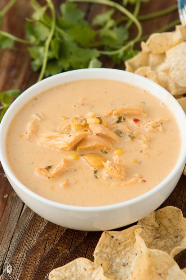 Cheesy chicken tortilla soup. It's like your favorite corn chowder ...
