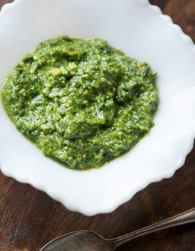 Cilantro Pesto in 5 minutes ohsweetbasil.com