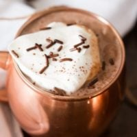 The silkiest, creamiest homemade hot chocolate I've ever had! ohsweetbasil.com