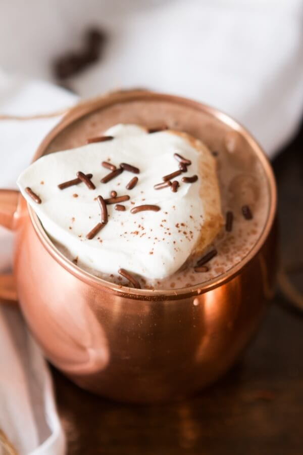 The silkiest, creamiest homemade hot chocolate I've ever had! ohsweetbasil.com