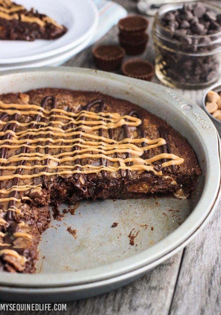 Fudgy Peanut Butter Brownie Cake