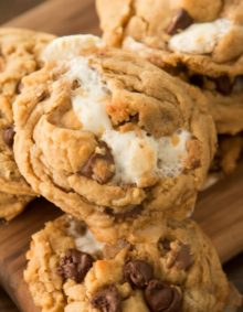 Reese's Marshmallow Peanut Butter Cookies ohsweetbasil.com