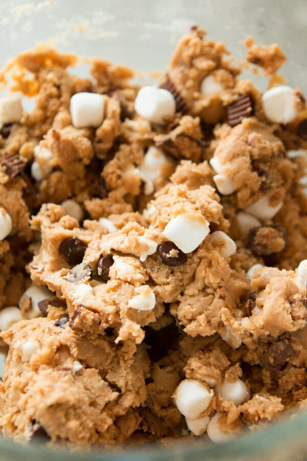 Reese's Peanut Butter Marshmallow cookies ohsweetbasil.com