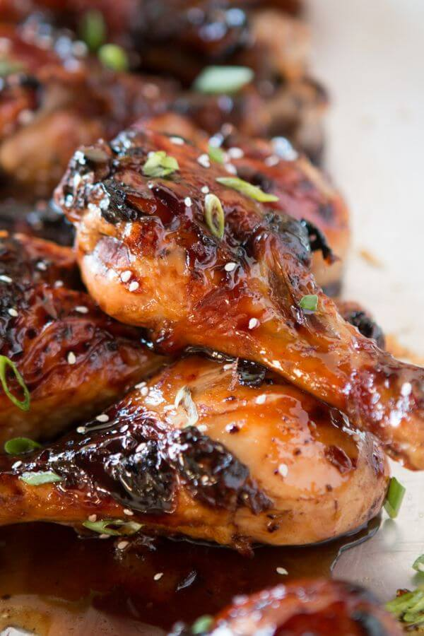 Sticky Orange Chicken Drumsticks Oh Sweet Basil