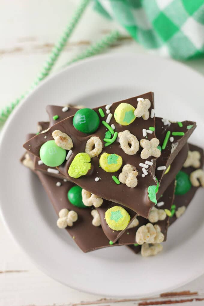 Mint Chocolate St. Patrick's Day Bark-5