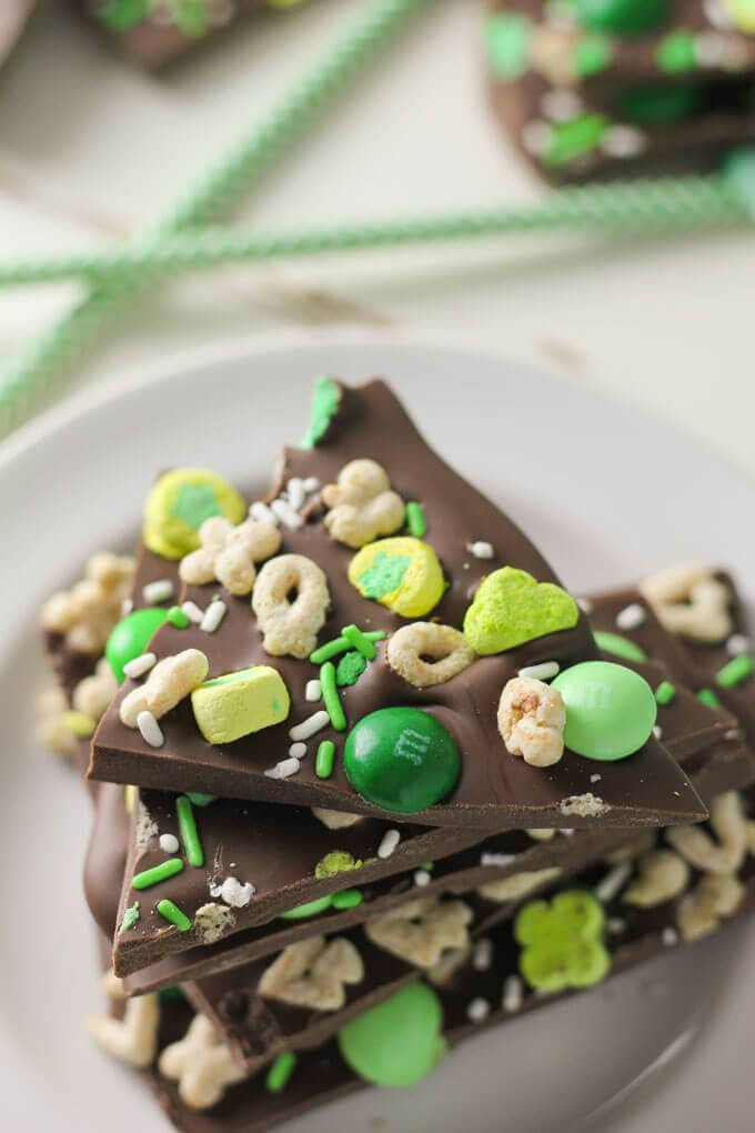 Mint Chocolate St. Patrick's Day Bark-7