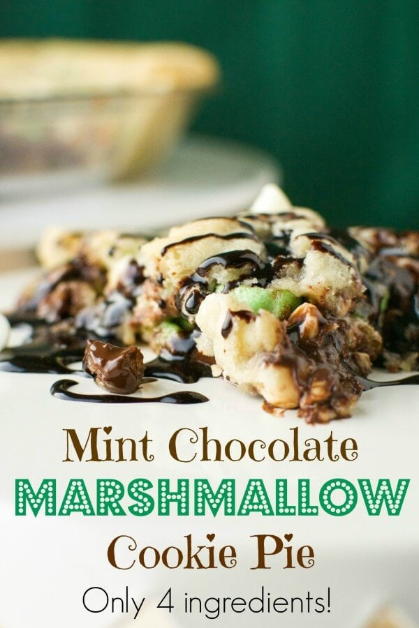 Mint Marshmallow Cookie Pie | A baJillian Recipes