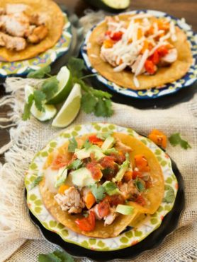 Healthy chili lime chicken tostadas ohsweetbasil.com