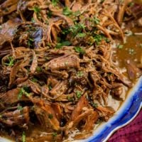 This is our new favorite slow cooker pot roast recipe and it's only 3 ingredients! I cannot even believe how perfect and juicy it was!! ohsweetbasil.com