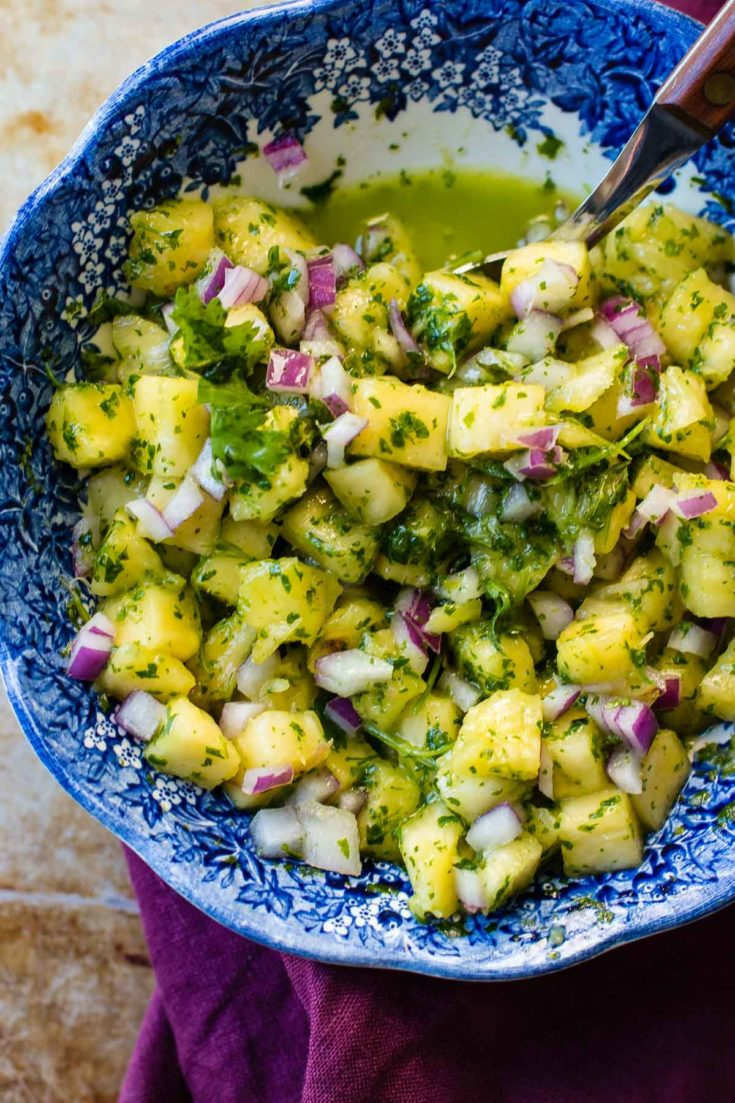 5 minute Pineapple Chimichurri with Cilantro