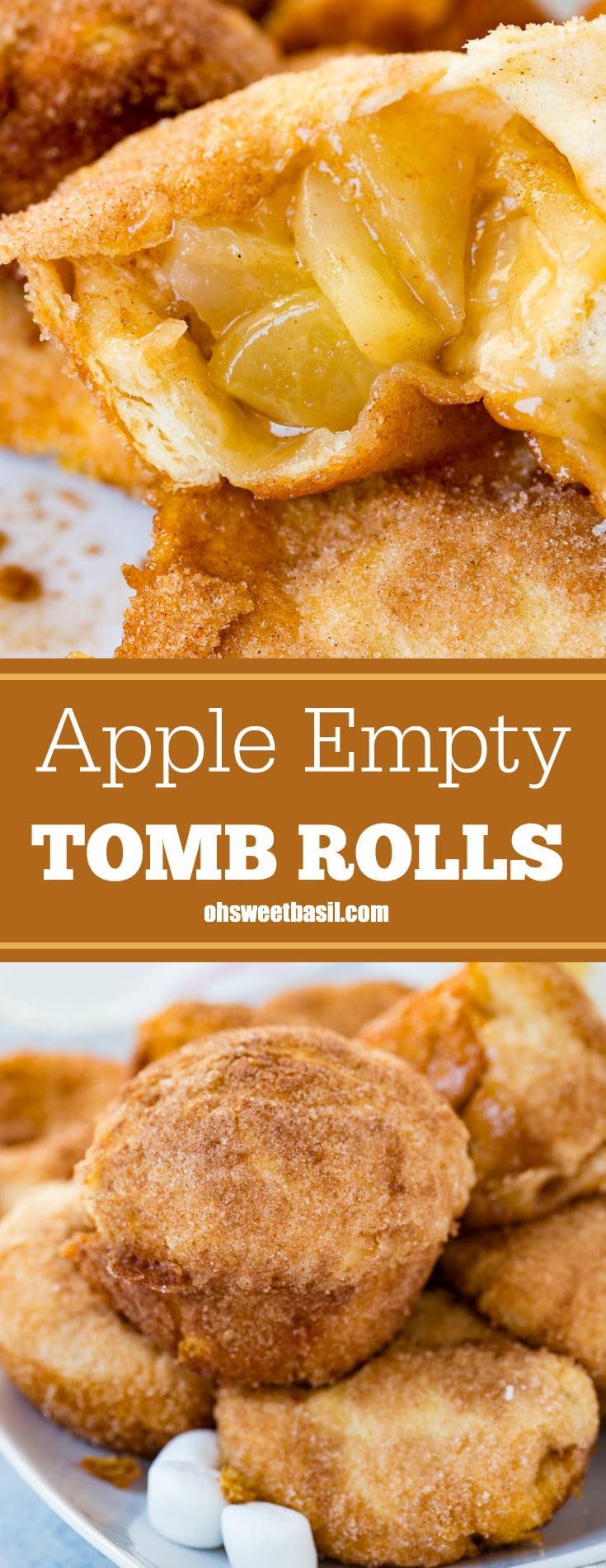 a close up of an apple pie empty tomb roll