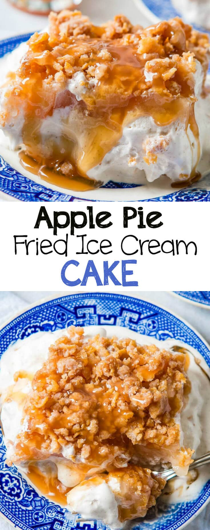 There's nothing that says fall like apple recipes. Our family's apple pie fried ice cream cake is the perfect way to move into fall!