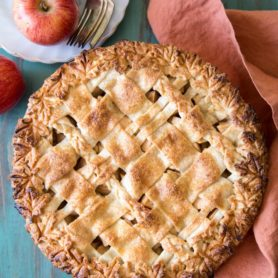 Fully baked apple pear pie