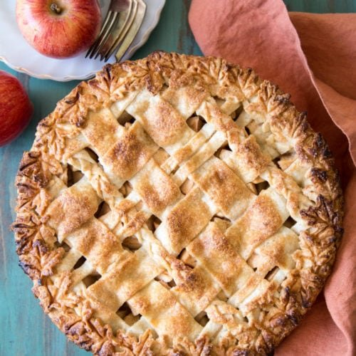 Fully baked apple pear pie