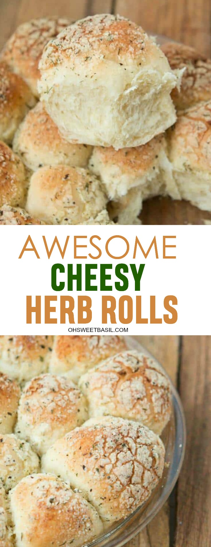 A plate of Awesome Cheese Herb Rolls