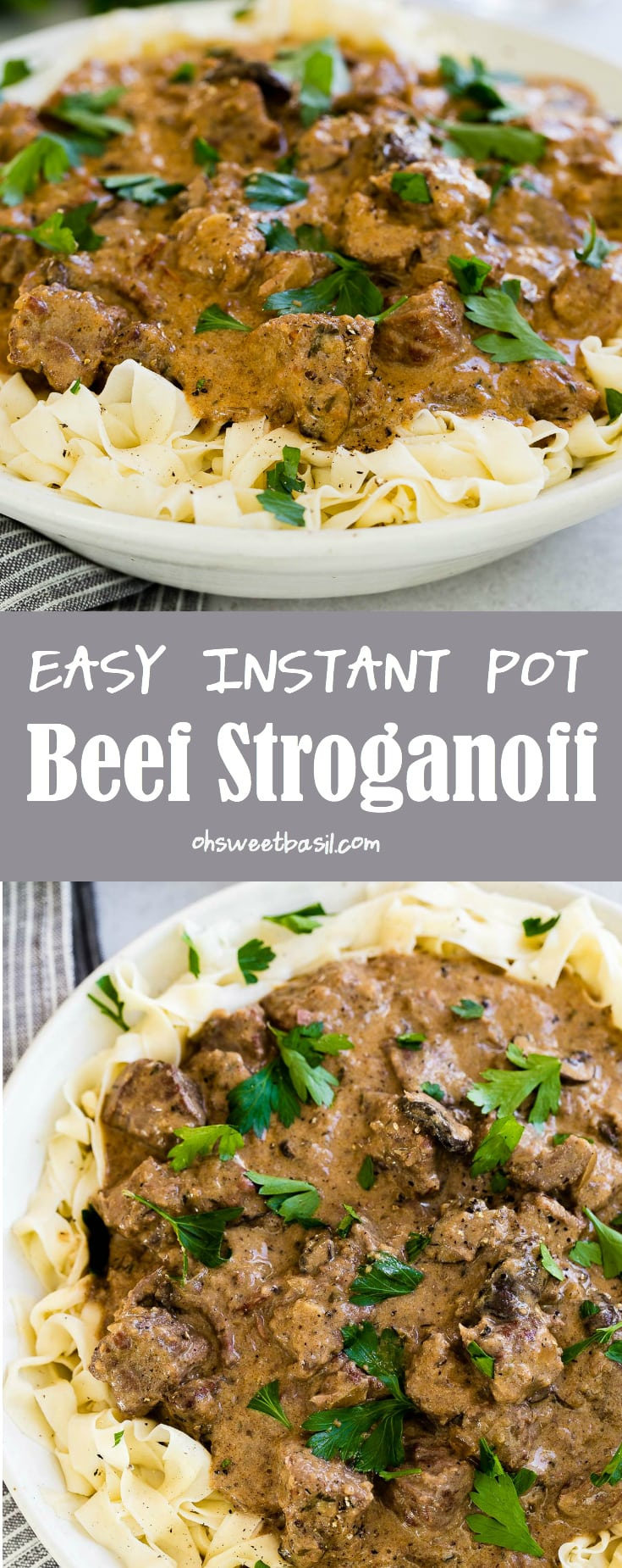 The BEST recipe for Easy Instant Pot Beef Stroganoff, everything you need to know about making beef stroganoff in a slow cooker or instant pot.