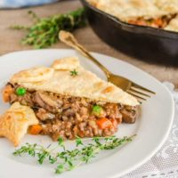 30 Minute Skillet Beef Pot Pie
