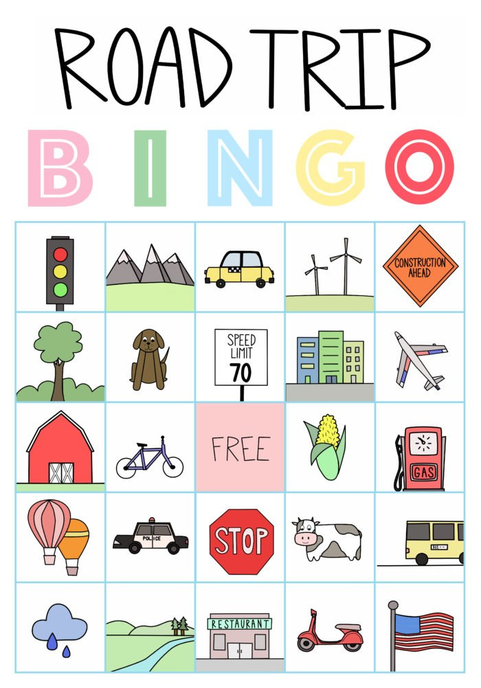 graphic about Travel Bingo Printable known as Street Getaway Treats and Cost-free Printable Car or truck Bingo - Oh Cute Basil