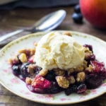Sweet blueberries & juicy peaches make for the perfect summer dessert. With brown sugar oatmeal topping - everyone goes crazy over this blueberry peach crumble.