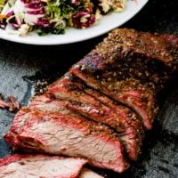 You need a Traeger and you really need to make this Brazilian smoked tri tip on a Traeger! The meat is tender, juicy and packed full of flavor!