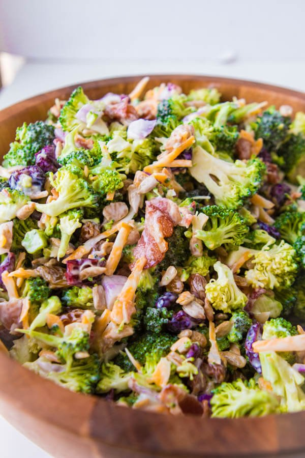 The Best Broccoli Salad With Bacon Cheese Oh Sweet Basil