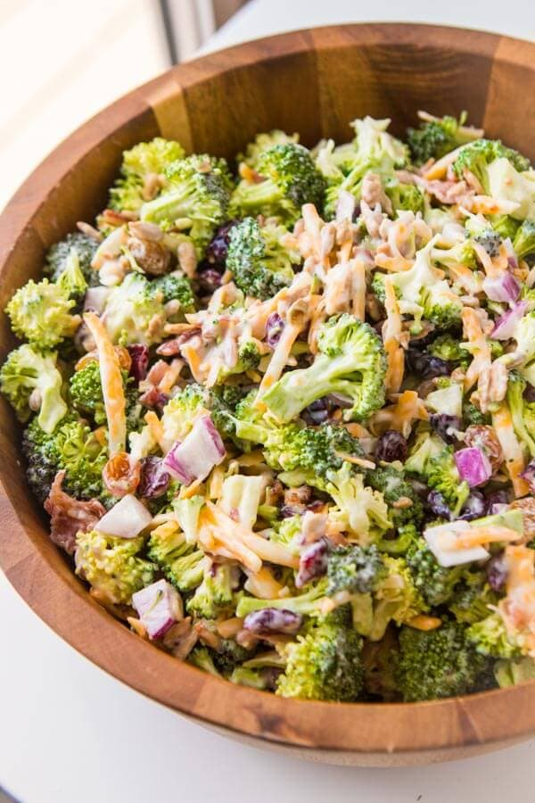Our Best Broccoli salad recipe for a BBQ? I've got you covered with this quick and easy side recipe. ohsweetbasil.com