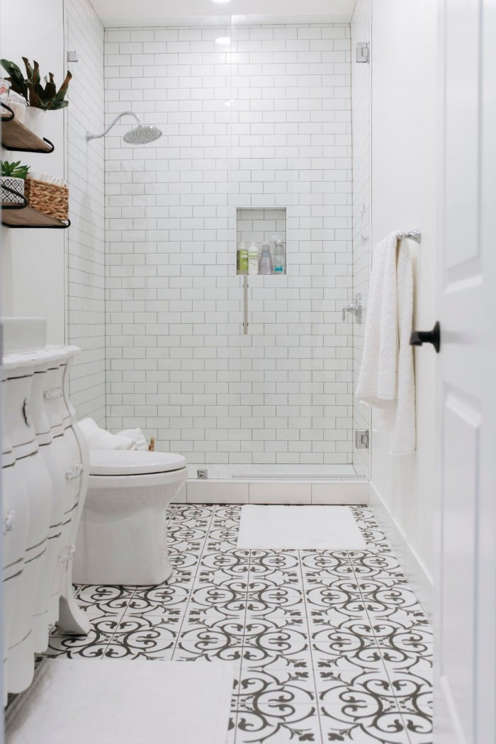Basement Bathroom Reveal and the Best Tile of 2018 - Oh ...