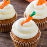 If you love carrot cake - then you definitely need to try these carrot cake cupcakes with cream cheese frosting. They're moist, have a delicate cupcake crumb, and lots of delicious frosting.