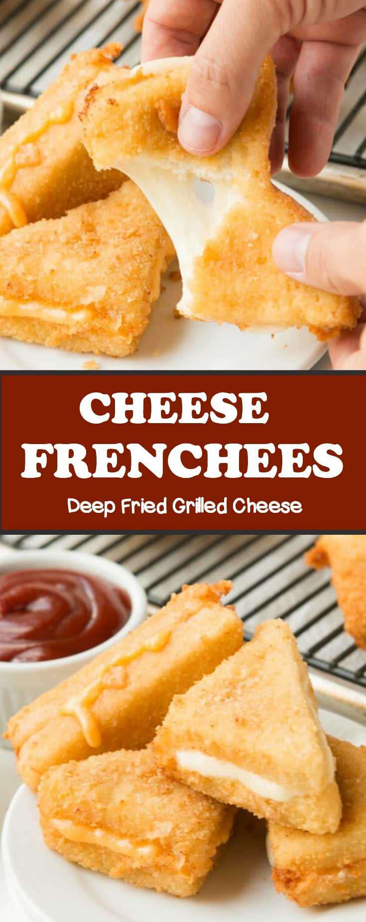 Looking for a classic mid-western recipe? These Cheese frenchees deep fried grilled cheese are a favorite for the super bowl!