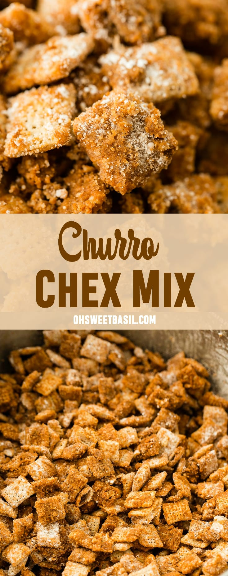 Churro Chex Mix Video Oh Sweet Basil