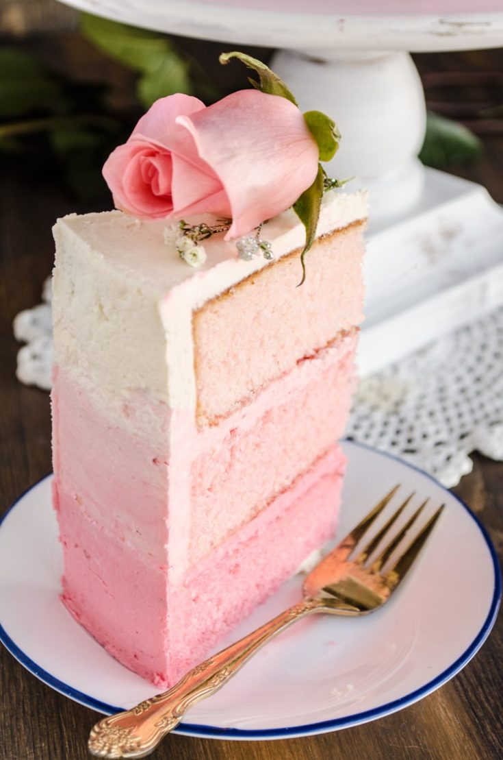 Strawberry Pink Ombre Cake Oh Sweet Basil