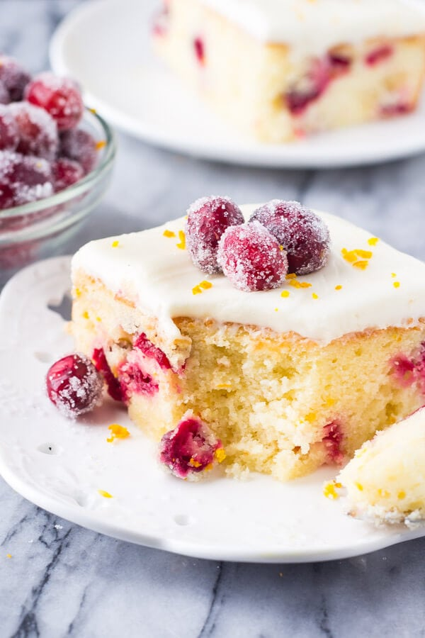 Cranberry Cake Cream Cheese Frosting