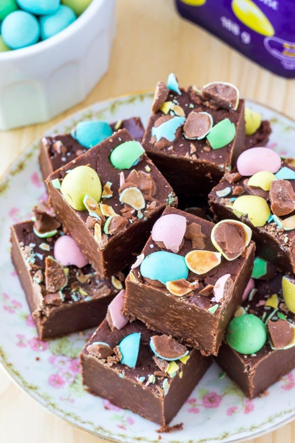 If you're looking for more Easter treats - be sure to try this chocolate fudge recipe. It's smooth and creamy, then topped with mini eggs.