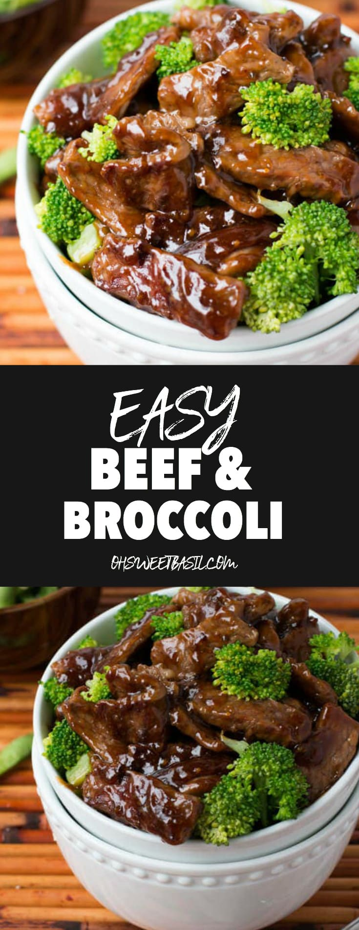 A white bowl with beef and broccoli