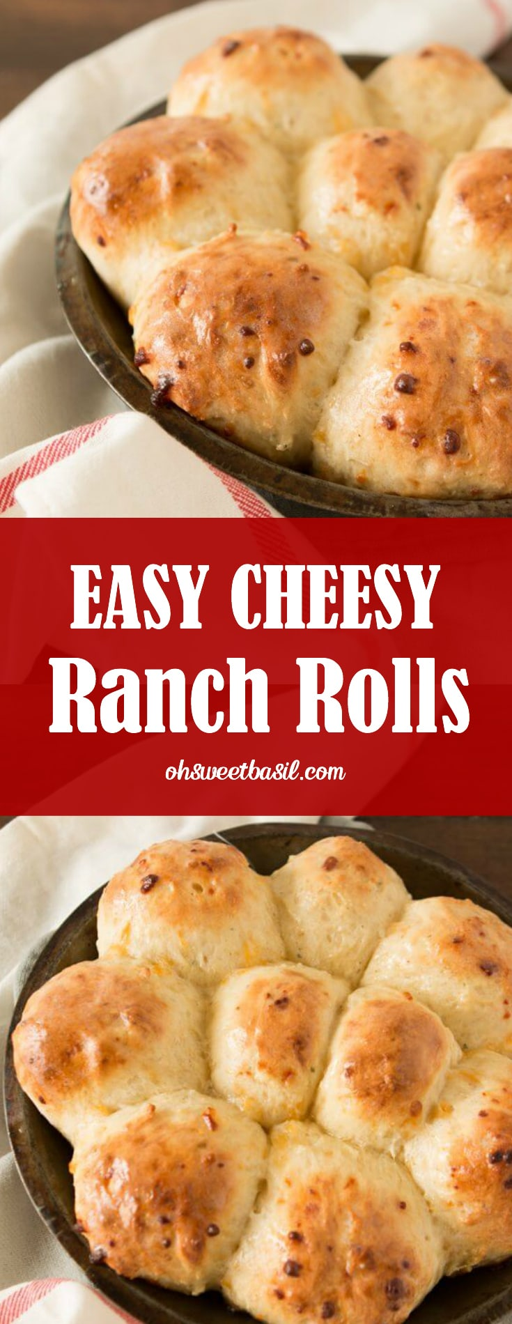 A pan of the best easy cheesy ranch rolls