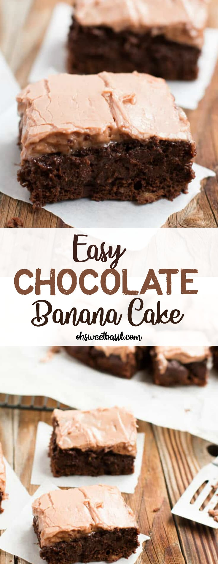 The best and easy chocolate banana cake with cream cheese frosting