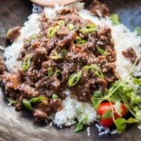 This is so happening for dinner. Slow Cooker Korean BBQ Beef recipe from Damn Delicious's new Cookbook. Seriously one of our family's favorites! ohsweetbasil.com