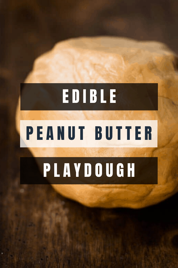 A ball of edible peanut buttter playdough