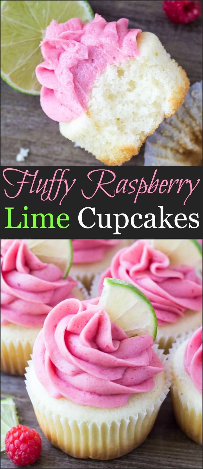 These Raspberry Lime Cupcakes are so pretty and have such a fun flavor combo. They start with moist vanilla cupcakes with a fresh hint of lime, then they're frosted with raspberry buttercream made from fresh berries.