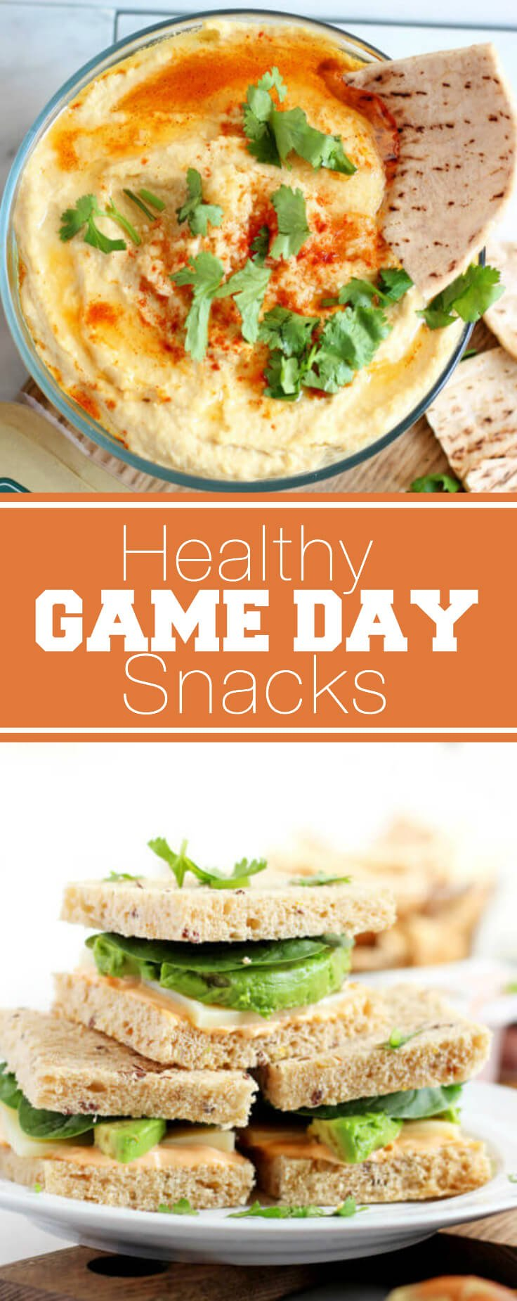 Healthy Game Day Snacks, just in time for the football season!!