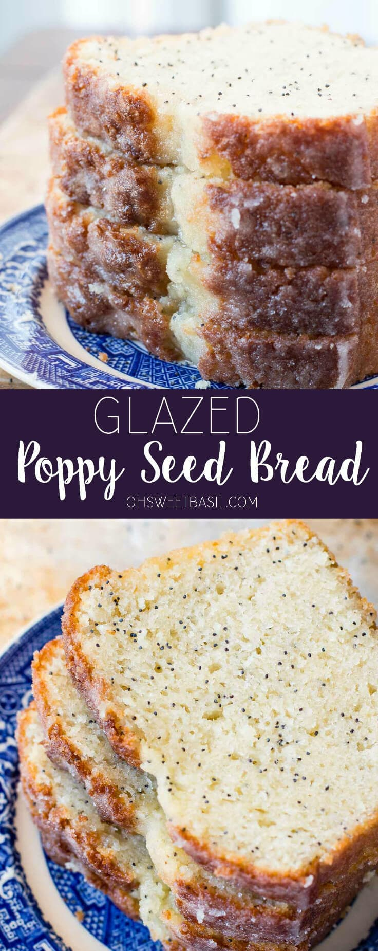 This glazed poppy seed bread is one of the easiest quick bread recipes. It's light and fluffy and full of flavor with that delicious glaze!