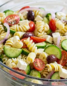 Greek Pasta Salad | Oh Sweet Basil