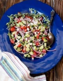Greek Salad with Feta ohsweetbasil.com