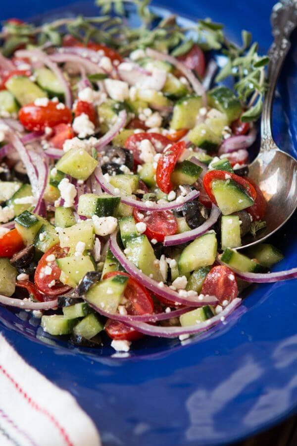 Greek Salad ohsweetbasil.com