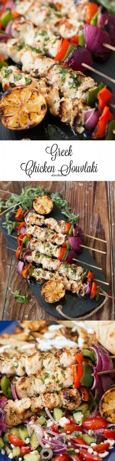 This was so good! chicken souvlaki on the grill ohsweetbasil.com