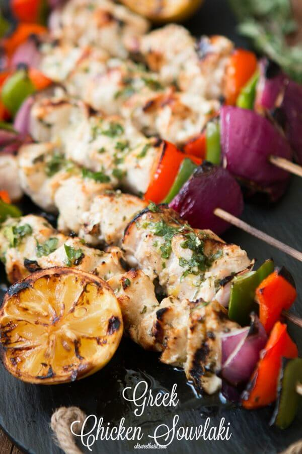 Obsessed with Greek Chicken Souvlaki ohsweetbasil.com