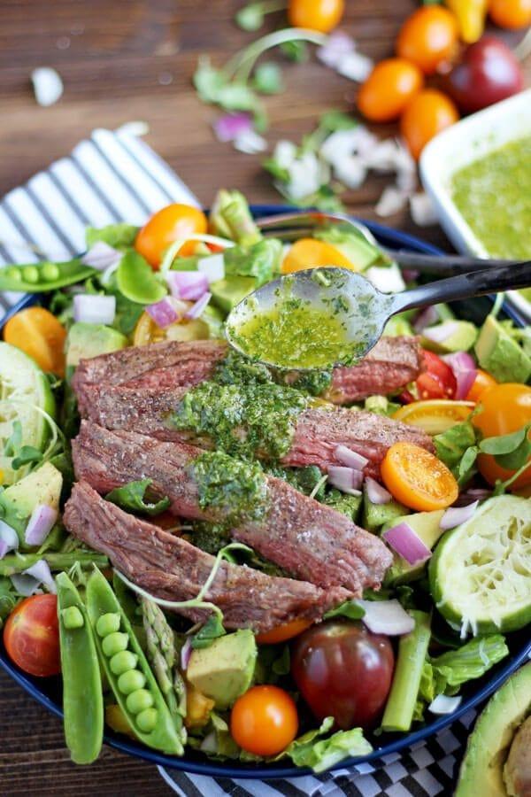 Grilled Flank Steak Summer Salad